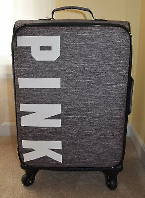 New Victoria's Secret PINK Grey Marl Wheelie/Suitcase