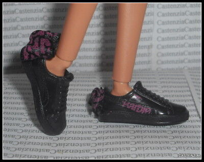 Shoes Barbie Doll Made To Move  Puma Black Bow Flat Foot Designer Tennis Sneaker