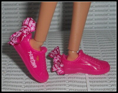 Shoes Barbie Doll Made To Move  Puma Pink Bow Flat Foot Designer Tennis Sneaker