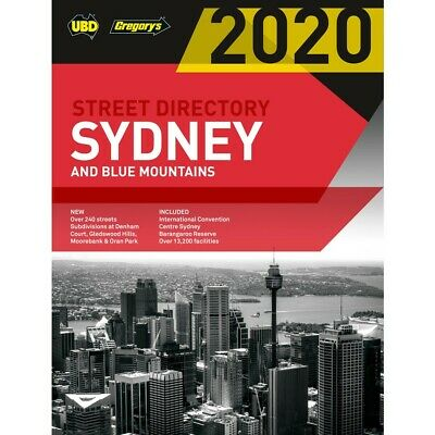Sydney & Blue Mountains Street Directory 2020 56th Edition