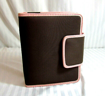 New Compact Franklin Covey Snap Planner Organizer Brn / Pink  4 Backpack / Tote