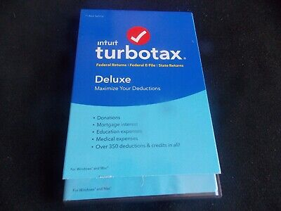 2016 Intuit Turbotax Deluxe Turbo Tax PC windows / Mac Federal + State sealed