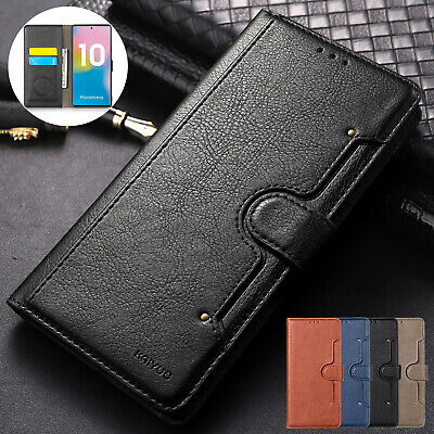 For Samsung Galaxy Note 10 Plus Phone Case Magnetic Flip Leather Wallet Cover