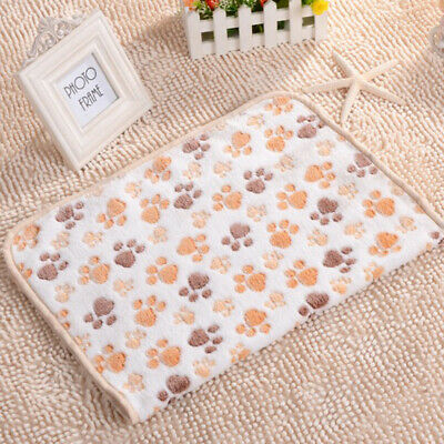 Design Paw Print Soft Warm Pet Small Blanket Dog Cat Mat Puppy Bed Sofa Lovely