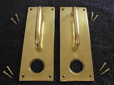 1 PAIR (2) of NEW Solid BRASS DOOR PULL HANDLES - Postage available