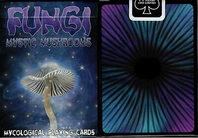 LIMITED Edition Fungi Mystic Mushrooms Mycological Playing Cards SAVE $1.90!