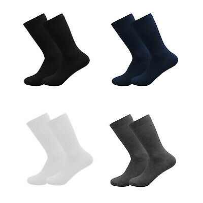 12 Pairs Boys Girls Short Ankle Cotton Rich Plain School Socks Black Size 3-6 Years Old