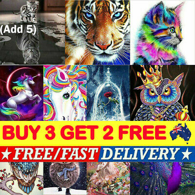 Full Drill DIY 5D Diamond Painting Embroidery Cross Crafts Kit Decor Art R