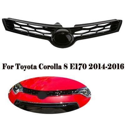 1Pcs For Corolla S E170 14-16 Glossy Black ABS Front Bumper Upper Black Grille