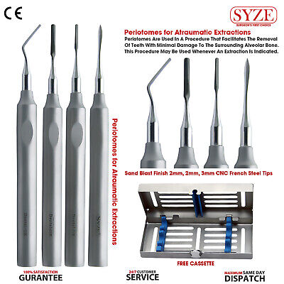 Dental Implant Periotomes Atraumatic Extraction Teeth Removal CNC French Steel