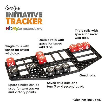 Garfy's Initiative Tracker Dice Tidy Organiser for Warcry