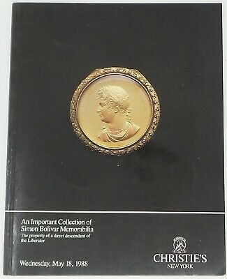 Christie's an important collection of Simon Bolivar, May 1988 aste auction