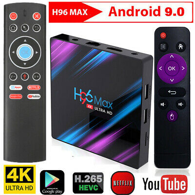 H96 MAX RK3318 64GB 32GB 4GB Smart 4K TV BOX Android 9.0 w/T1+ Fly Air Mouse Kit