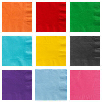 Paper NAPKINS Party Tableware Plain Solid Colours Events Catering Disposable use