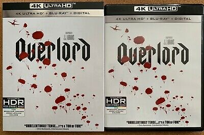 Overlord 4K Ultra Hd Blu Ray 2 Disc Set + Slipcover  Sleeve Free World Shipping