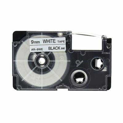 2Pcs XR-9WE XR-9WE1 Compatible For CASIO Label Tape Black On White 9mm 8m