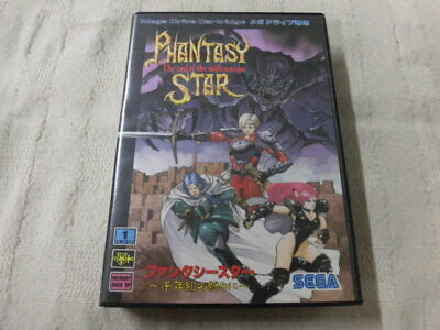 Y4435 Sega Mega Drive Phantasy Star The end of the millennium Japan MD