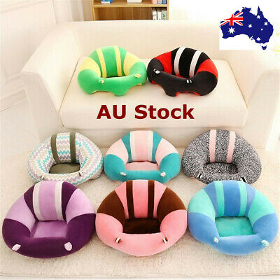 Cotton Baby Support Seat Soft Chair Cushion Sofa Plush Pillow Toys Infant Kid AU