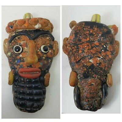 Very lovely old mosaic glass face amuelt