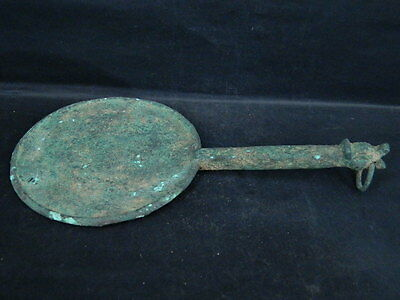 Ancient Large Size Bronze Mirror Roman 200 BC #BR2001