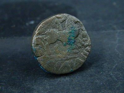 Ancient Bronze Coin Bactrian 100 BC #BR1037