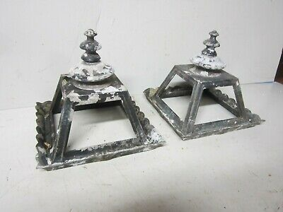 2 Vintage Cast Aluminum Light Fixture (no glass) Ornate Design Steampunk lamp