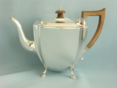 STATTLICHE TEEKANNE ART DECO  STERLINGSILBER   SHEFFIELD 1933,  1,0 Liter