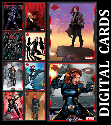 Topps Marvel Collect Card Trader Showcase Black Widow [Set 10 Cards] Digital