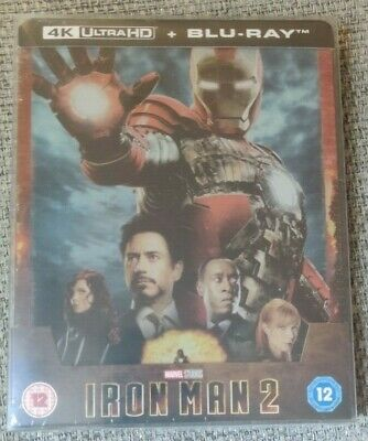 Iron Man 2 4k 2D UHD Blu Ray Steelbook Limited Edition Marvel with box protector