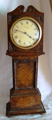 A Late 19Th Century Japy Freres, Miniature Long Case Clock.