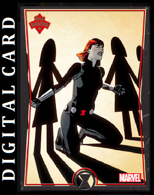 Topps Marvel Collect Card Trader Showcase Black Widow #3 [Digital]