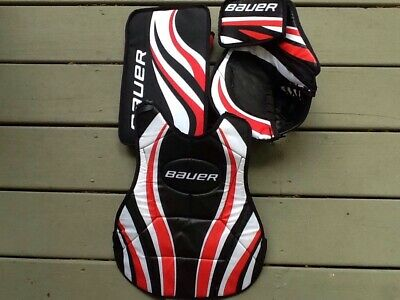 NEW BAUER YOUTH street hockey pads/gloves/helmet/chest