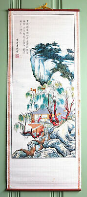 "Home decor Chinese scroll painting Mountains painting ""万里长城"" decoration"