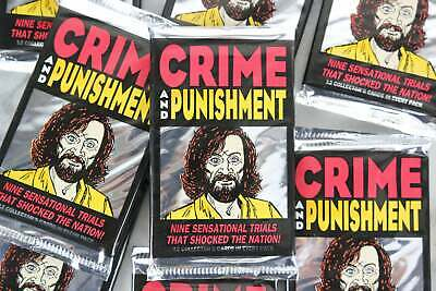 Eclipse Crime and Punishment True Crime Trading Cards, One Pack, 1992