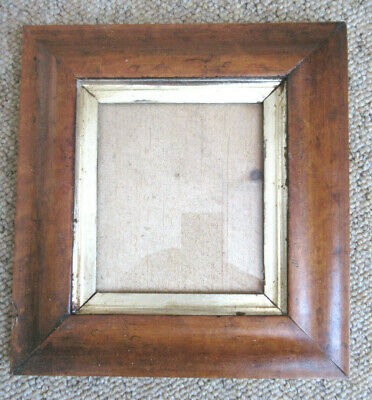 An Antique Birds Eye Maple Small Portrait Picture Frame, Stepped Slip,