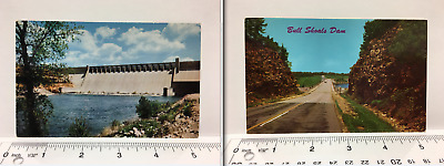 Lot of 2 Bull Shoals Dam The Cut Road Ozarks Arkansas AR Vintage Postcard