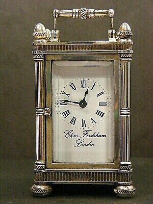 Charles Frodsham Miniature Carriage Clock Solid Silver Limited Edition Rare