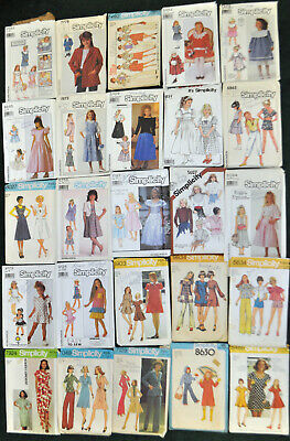 Lot of 25 Simplicity Sewing Patterns - Misses and Girls - FREE SHIPPING