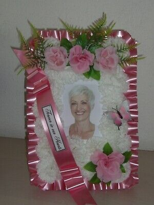 Artificial Funeral Flowers Tribute - Photo Frame Tribute - Mum Nan Sister Child