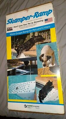 Skamper Ramp Waterscape Ramp for Pets Critters  American Pet Assoc. New In Box