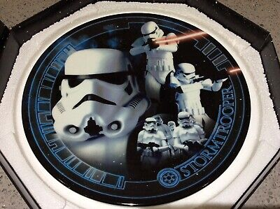 STAR WARS Limited Edition Collectors Plate, Cards Inc. Series 1, 'STORMTROOPER'