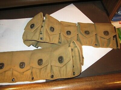 Original Us Army 1918 Dated 10 Pocket Ammunition Rifle Belt, Russell Manufacture