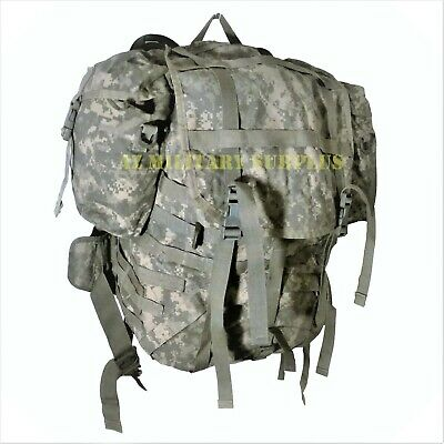 Us Military Rucksack External Frame Backpack Complete Molle Ii Pack +Free Fedex!