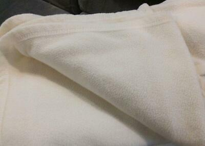 "The Big Plush Blanket Ivory 96"" x 99"""
