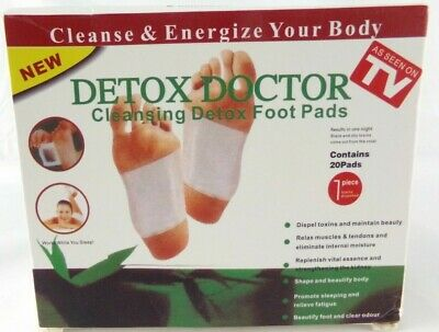 DETOX DOCTOR Cleansing Detox Foot Pads (20 Pack) Foot Patch For Cleansing Toxins