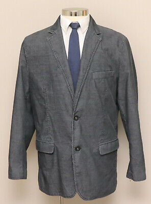 Mens XL INC International Concept Grey Corduroy Cotton Blend Blazer