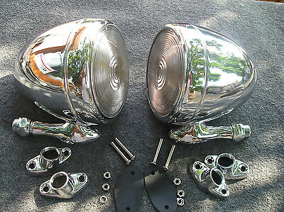 New Pair Of Chrome Vintage Style Dummy Spot Lights !