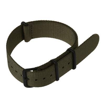 1X(20mm Army Green Nylon Fabric Outdoor Sport Watch Band Strap Fits TIMEX WEE T9