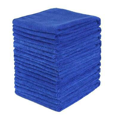 10 x Large Blue Microfibre Cleaning Auto Car Detailing Soft Cloths Wash Towel