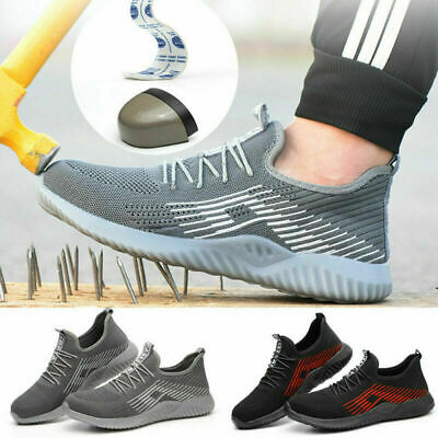AU Mens Work Boots Safety Shoes Steel Toe Cap Sneakers Lightweight Breathable